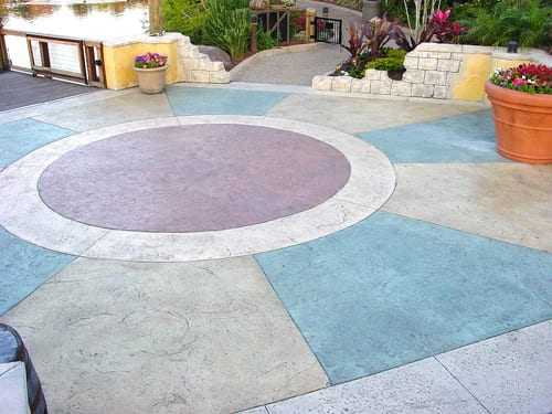 Colorful Cement Finish for Flamboyant Patio