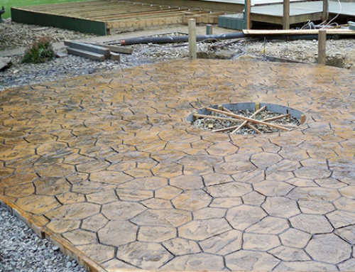 Custom Concrete Fire Pit