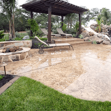 Pool Patio in St George by Blue Spruce Landscaping and Cement